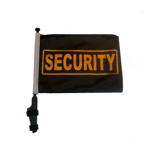 SSP Flags: 11x15 inch Golf Cart Flag with Pole - Security
