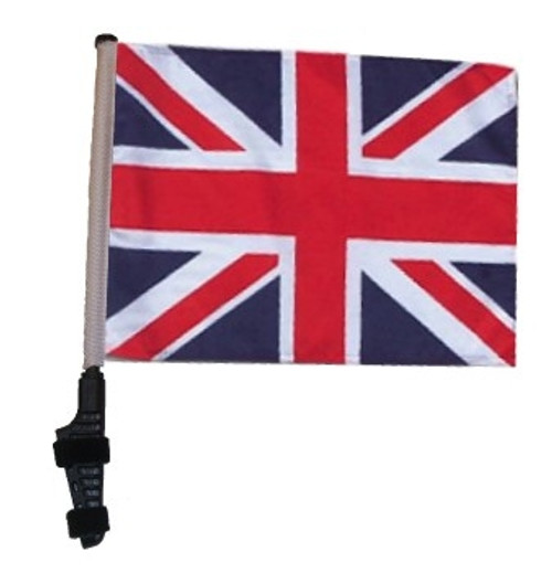 SSP Flags: 11x15 inch Golf Cart Flag with Pole - Union Jack