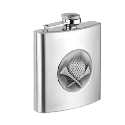 Golf Design 8oz Flask by Big Easy Tobacco Company