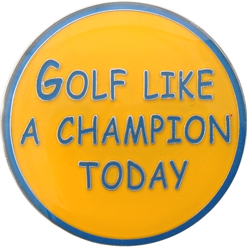 ReadyGolf: Golf Like A Champion Today Ball Marker & Hat Clip