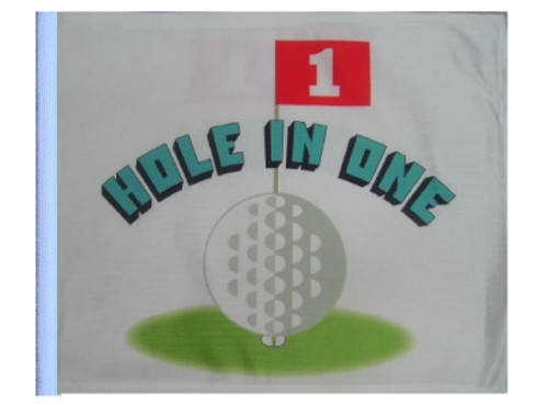 SSP Flags: 11x15 inch Golf Cart Replacement Flag - Hole in One