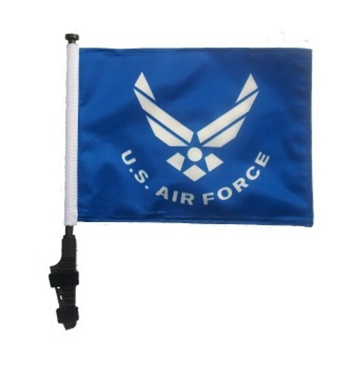 SSP Flags: 11x15 inch Golf Cart Flag with Pole -  Licensed Air Force