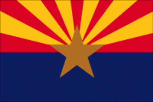 "Bag Boy: 12"" X 18"" Rectangular State Flag - Arizona"