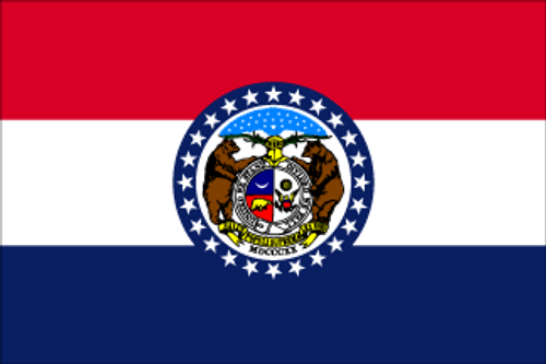 "Bag Boy: 12"" X 18"" Rectangular State Flag - Missouri"