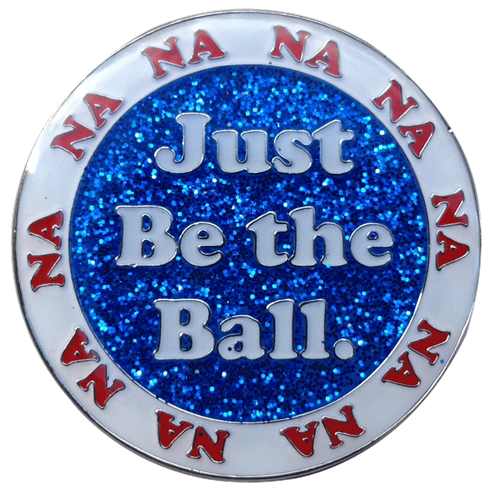 Just Be The Ball  Golf Ball Marker & Hat Clip by ReadyGOLF
