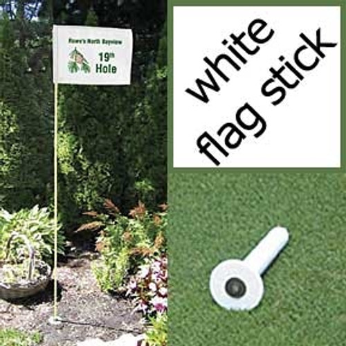 Markers Inc - White Backyard Golf Flagstick