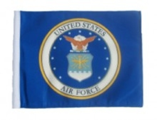 SSP Flags: 11x15 inch Golf Cart Replacement Flag - Licensed Air Force Coat of Arms