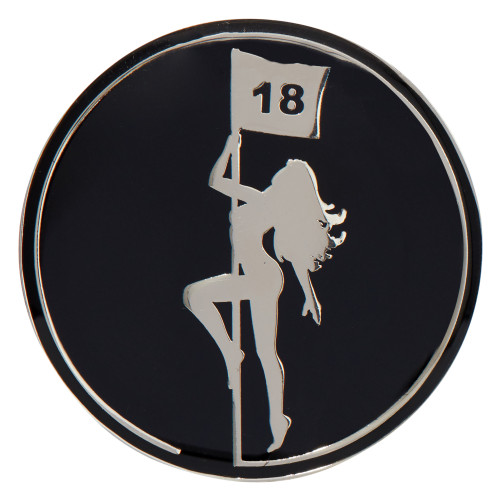 ReadyGolf: Pole Dancer - Naked Lady Ball Marker & Hat Clip