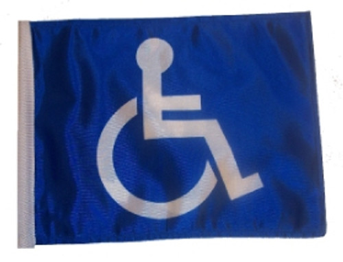 SSP Flags: 6x9 inch Golf Cart Replacement Flag - Handicap