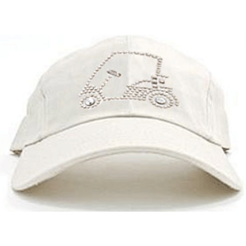 Dolly Mama Ladies Baseball Hat - Golf Cart on Stone