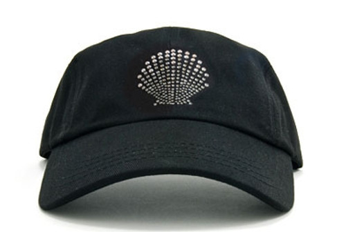 Dolly Mama Ladies Baseball Hat - Shell on Black