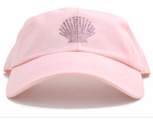 Dolly Mama Ladies Baseball Hat - Shell on Pink
