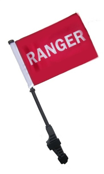 SSP Flags: Small 6x9 inch Golf Cart Flag with EZ On/Off Pole Bracket - Ranger