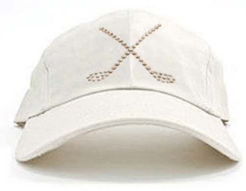 Dolly Mama Ladies Baseball Hat - Large Crossed Clubs on Stone
