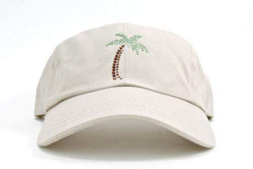 Dolly Mama Ladies Baseball Hat - Palm Tree on Stone