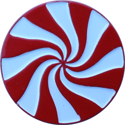 ReadyGolf: Peppermint Candy Ball Marker & Hat Clip