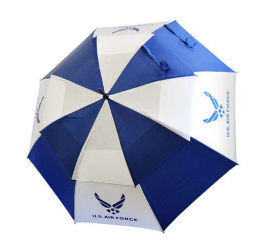 "U.S. Air Force Military 62"" Double Canopy Golf Umbrella by Hotz Golf"