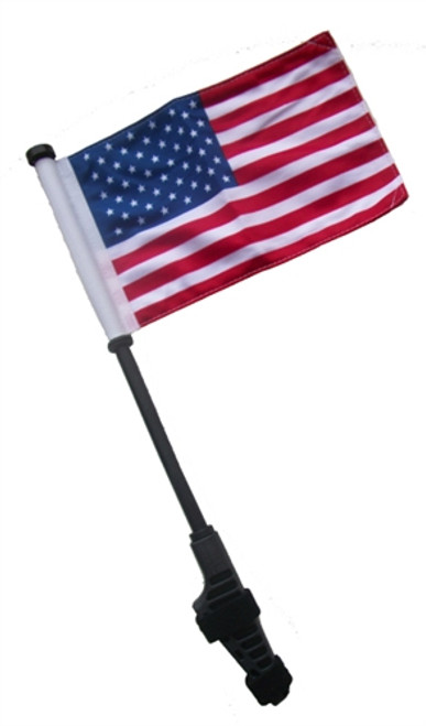 SSP Flags: Small 6x9 inch Golf Cart Flag with EZ On/Off Pole Bracket - USA