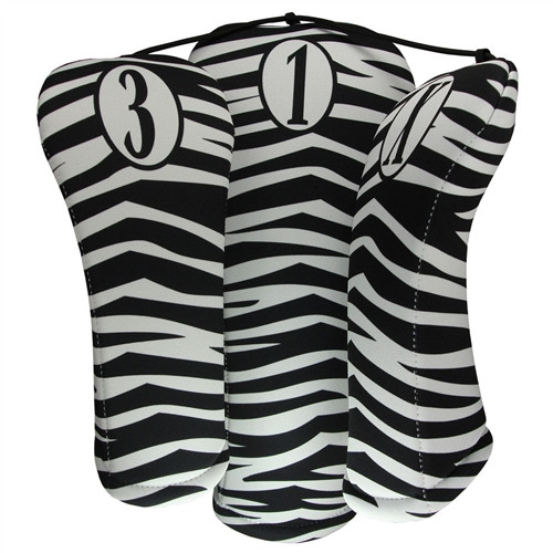 BeeJos: Golf Head Cover - Zebra Print