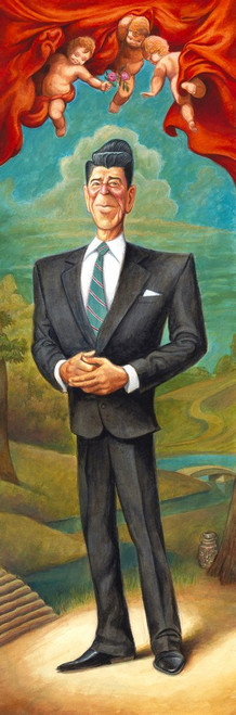 "David O'Keefe: The Gripper - A Tribute to Ronald Reagan 8""x24"""
