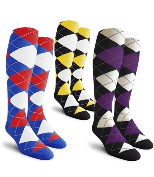 Golf Knickers: Ladies Over-The-Calf Argyle Socks