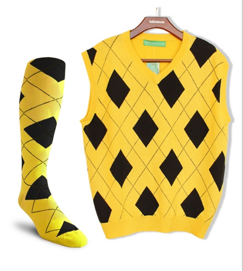 Golf Knickers: Men's Signature Series Argyle Sweater Vest & Socks