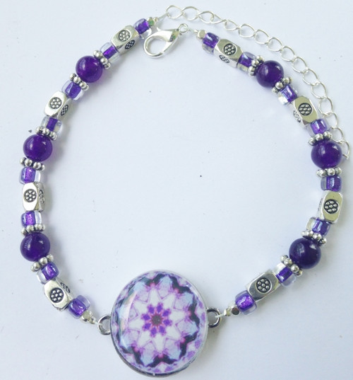 One Putt Designs - Amazing Amethyst Ball Marker Ankle Bracelet #4AM