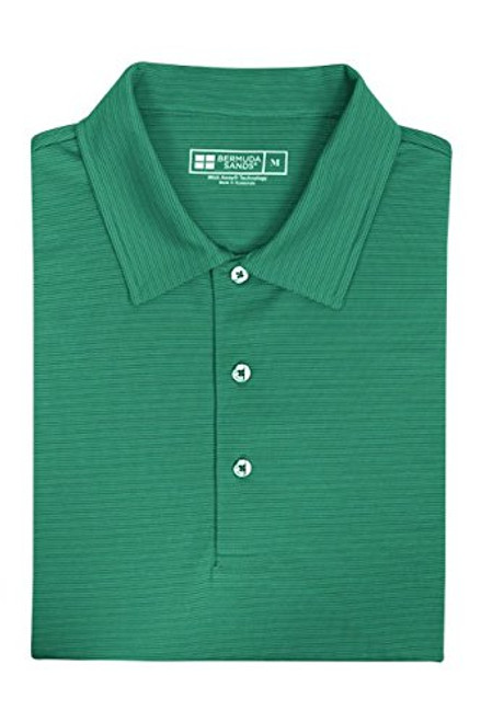 Bermuda Sands Men's Tonal Micro Stripe Polo - Essex - Caribbean Green - SALE