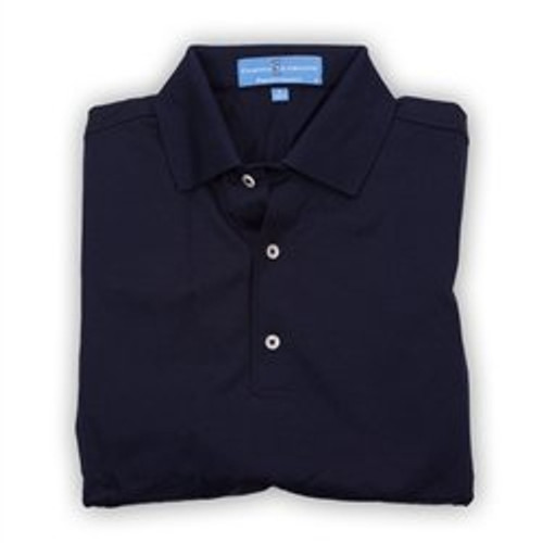 Fairway & Greene Men's Polo - Pureformance Solid Lisle Knit - Navy ( Medium) - SALE