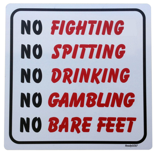 "Bushwood Country Club  ""No Fighting"" Metal Sign"