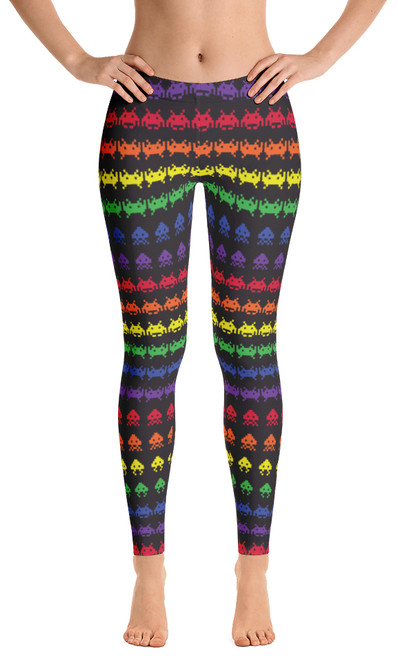 ReadyGOLF: Invaders from Space Women's All-Over Leggings