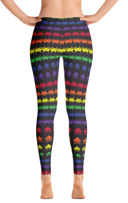 ced5bff51 ReadyGOLF Womens All-Over Leggings - Invaders from Space