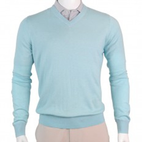 Fairway & Greene: Men's McCallan Blend Solid V-Neck Sweater