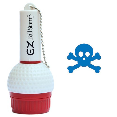 My Ball Stamp: EZ Ball Stamp Golf Ball Identifier - Skull & Crossbones Blue