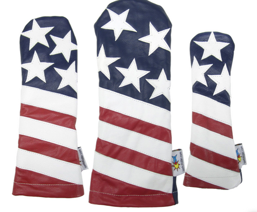 Sunfish: Leather Headcovers Set - The Liberty
