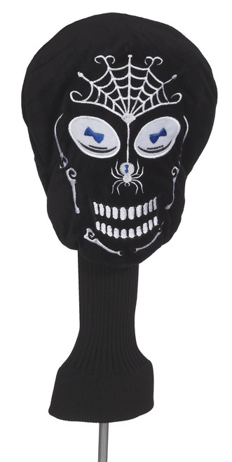 Creative Covers: Black Skull Golf Headcover