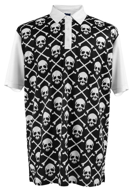 Pirate Flag Mens Golf Polo Shirt by ReadyGOLF