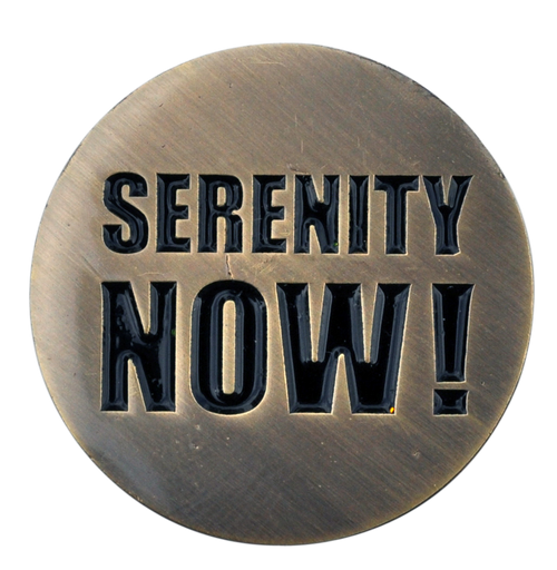 ReadyGolf: Serenity Now! Golf Ball Marker & Hat Clip