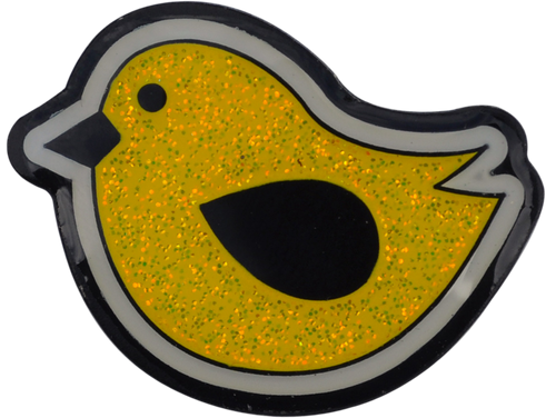 Birdie Hunting Glitter Ball Marker & Hat Clip - Yellow by ReadyGOLF