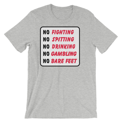 Bushwood Country Club No Fighting Sign T-Shirt by ReadyGOLF