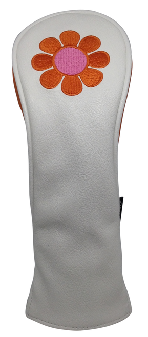 ReadyGolf: Embroidered Hybrid Headcover - Flower Power (Orange)