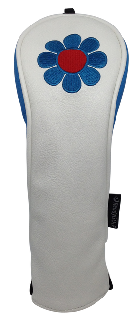 ReadyGolf: Embroidered Hybrid Headcover - Flower Power (Blue)