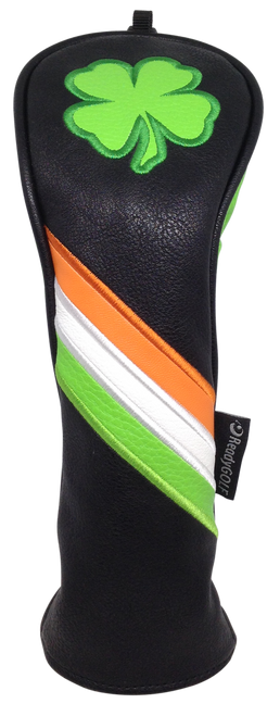 Irish Shamrock Embroidered Headcover by ReadyGOLF - Hybrid