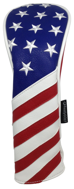 USA Flag Embroidered Headcover by ReadyGOLF - Hybrid