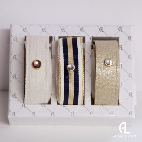Abigale Lynn Trio Gift Set - Navy Nautical