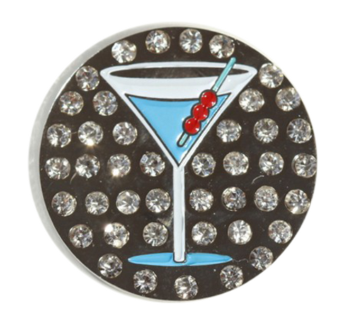 Abigale Lynn Ball Marker & Hat Clip - Blue Martini