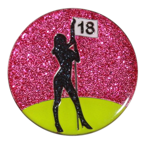 Abigale Lynn Ball Marker & Hat Clip - Golf Dancer