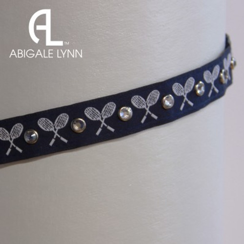 Abigale Lynn Visor Band - Navy Tennis