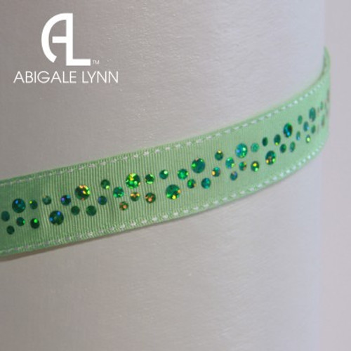 Abigale Lynn Visor Band - Lime Green Glitter Dots