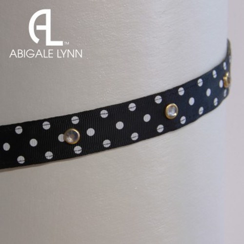 Abigale Lynn Visor Band - Black 3 Dot